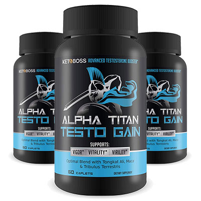 3 Bottles of Alpha Titan Testo