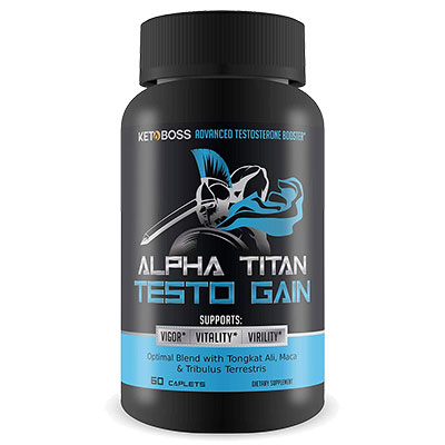 Alpha Titan Testo Bottle
