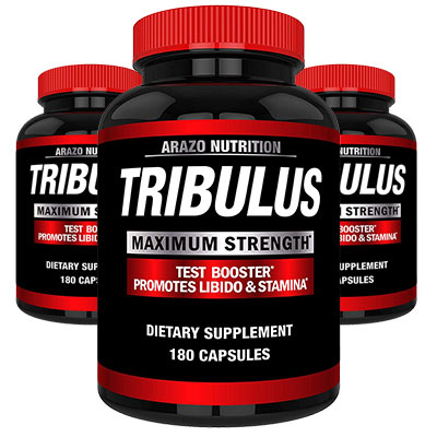 3 Bottles of Arazo Nutrition Tribulus