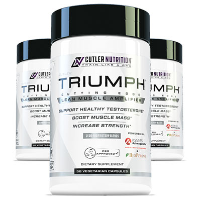 3 Bottles of Cutler Nutrition Triumph