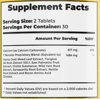 Fedlife Testosterone Booster Ingredients