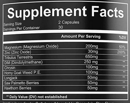 G-Test Plus Ingredients