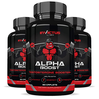 3 Bottles of Invictus Labs Alpha Boost