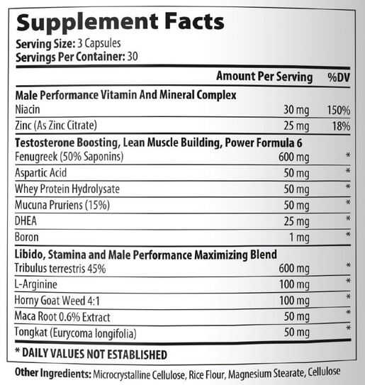 Lean Nutraceuticals Natural Testosterone Booster Ingredients