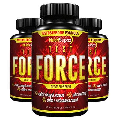 3 Bottles of NutriSuppz Test Force