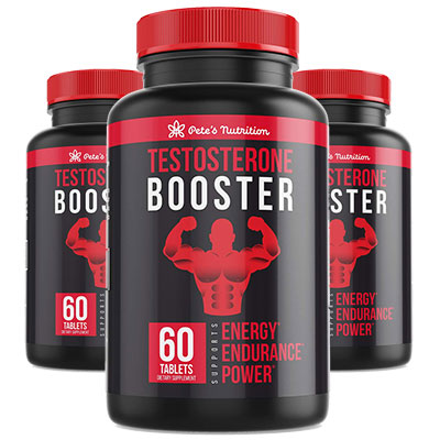 3 Bottles of Pete's Testosterone Booster