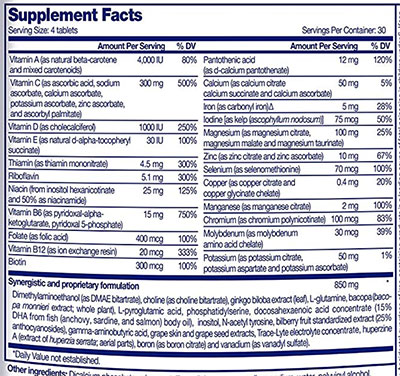 Focus Factor Ingredients - Full List