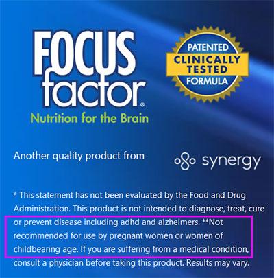 Focus Factor Risk