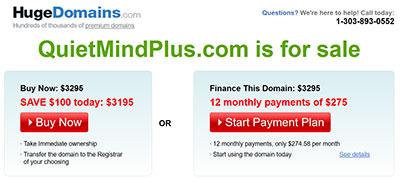 Quiet Mind Plus Website