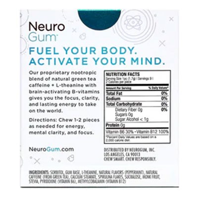 NeuroGum Ingredients