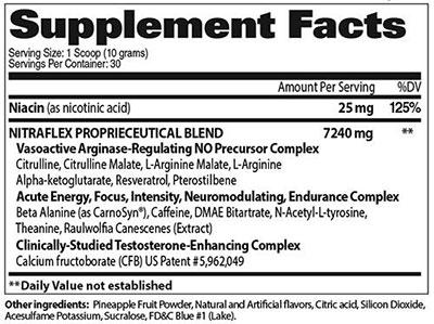 Ingredientes Nitraflex