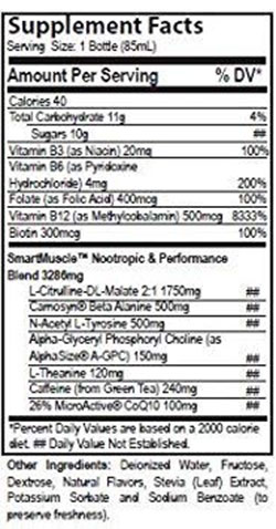 RuckPack Energy Drink Ingredients