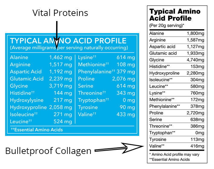Bulletpoof Collagen VS Vital Proteins